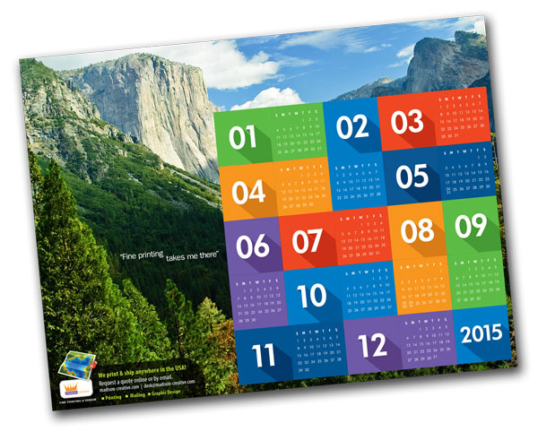 Madison Creative 2015 Calendar - order now