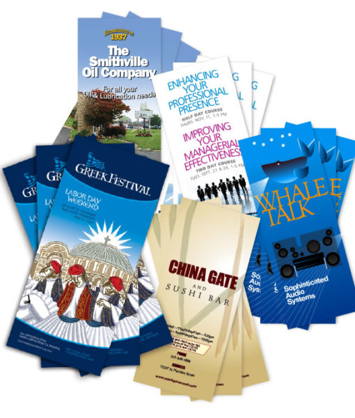 Brochures in fine printing to make an impact