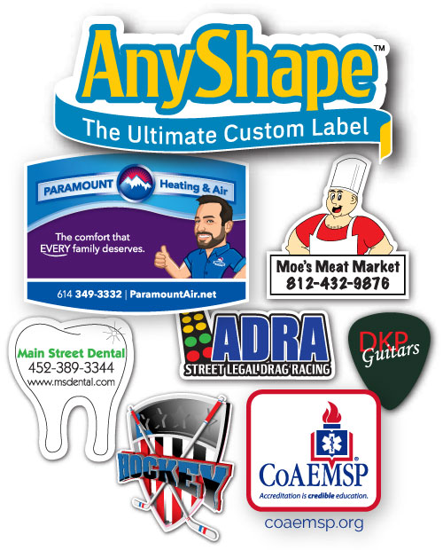 full color label printing with no die charge