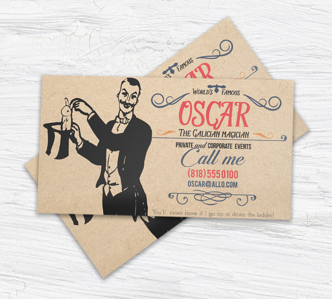 home about our printing business cards - Kraft Paper Business Cards